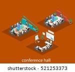 business meeting in an office...   Shutterstock .eps vector #521253373