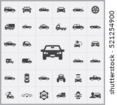 car icons universal set for web ... | Shutterstock .eps vector #521254900