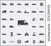 van icon. car icons universal... | Shutterstock .eps vector #521254933