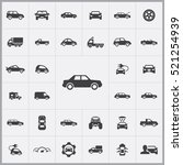 sedan car icons universal set... | Shutterstock .eps vector #521254939