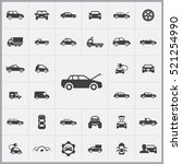 car icons universal set for web ... | Shutterstock .eps vector #521254990