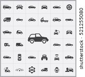 car icons universal set for web ... | Shutterstock .eps vector #521255080