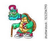 grandpa tortoise as before...   Shutterstock .eps vector #521256793