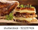 fresh sandwich with cheese and... | Shutterstock . vector #521257426