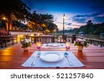 close up of outdoor restaurant... | Shutterstock . vector #521257840