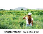 Woman Standing Scenic Acres...