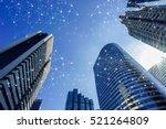smart cityscape high tech tone...   Shutterstock . vector #521264809