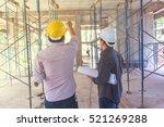 construction worker on... | Shutterstock . vector #521269288