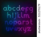vector illustration of neon... | Shutterstock .eps vector #521270179