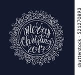 vector illustration christmas... | Shutterstock .eps vector #521270893