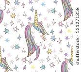 unicorn rainbow seamless...   Shutterstock .eps vector #521271358