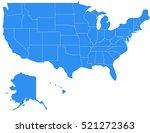 vector usa2 map on white... | Shutterstock .eps vector #521272363