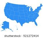 vector usa map on white... | Shutterstock .eps vector #521272414