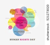 human rights day poster or... | Shutterstock .eps vector #521273020