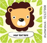 forest lion with text 3 | Shutterstock .eps vector #52127308