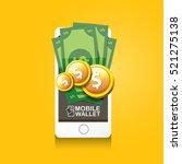 vector digital mobile wallet... | Shutterstock .eps vector #521275138