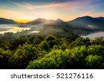 Twin lake in Bali