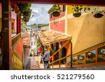 guatape the most colourful... | Shutterstock . vector #521279560