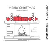 christmas and new year... | Shutterstock .eps vector #521280364