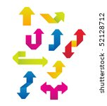 colored arrows vector   Shutterstock .eps vector #52128712
