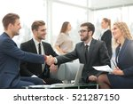 handshake between... | Shutterstock . vector #521287150