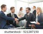 handshake between... | Shutterstock . vector #521287150