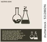 vector illustration test tube... | Shutterstock .eps vector #521288296