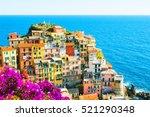 manarola town  cinque terre... | Shutterstock . vector #521290348