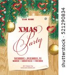 poster christmas party.... | Shutterstock .eps vector #521290834