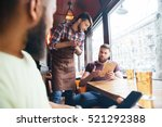 angry irritated bearded man... | Shutterstock . vector #521292388