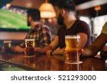 closeup of three young men... | Shutterstock . vector #521293000