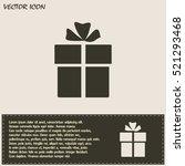 vector illustration of gift box    Shutterstock .eps vector #521293468