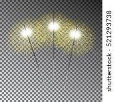 christmas sparkler set.... | Shutterstock .eps vector #521293738
