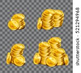 fistful of gold coins on... | Shutterstock .eps vector #521294968