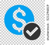 approved payment icon. vector... | Shutterstock .eps vector #521296819