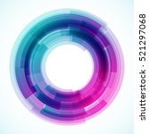 geometric frame  vector... | Shutterstock .eps vector #521297068