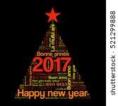 2017 happy new year in... | Shutterstock .eps vector #521299888