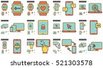 mobility vector line icon set...   Shutterstock .eps vector #521303578