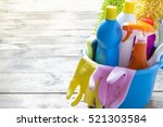 house cleaning product on the... | Shutterstock . vector #521303584