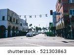 venice ca   october 10  2015 ... | Shutterstock . vector #521303863