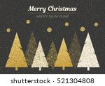 vector merry christmas and... | Shutterstock .eps vector #521304808