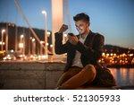 sitting by the bridge | Shutterstock . vector #521305933