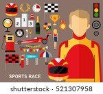 sports race concept background. ... | Shutterstock .eps vector #521307958