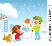 Winter Illustration With Kids...