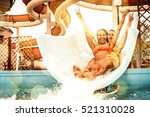 friends having fun on the water ... | Shutterstock . vector #521310028
