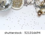 over head flat lay new years... | Shutterstock . vector #521316694