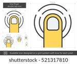 one finger double tap vector...   Shutterstock .eps vector #521317810