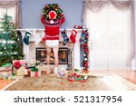 father decorating the living... | Shutterstock . vector #521317954