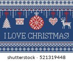 merry christmas and new year... | Shutterstock .eps vector #521319448