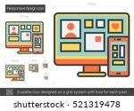 responsive design vector line... | Shutterstock .eps vector #521319478